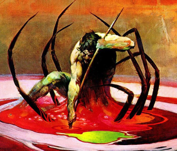 frank frazetta spider