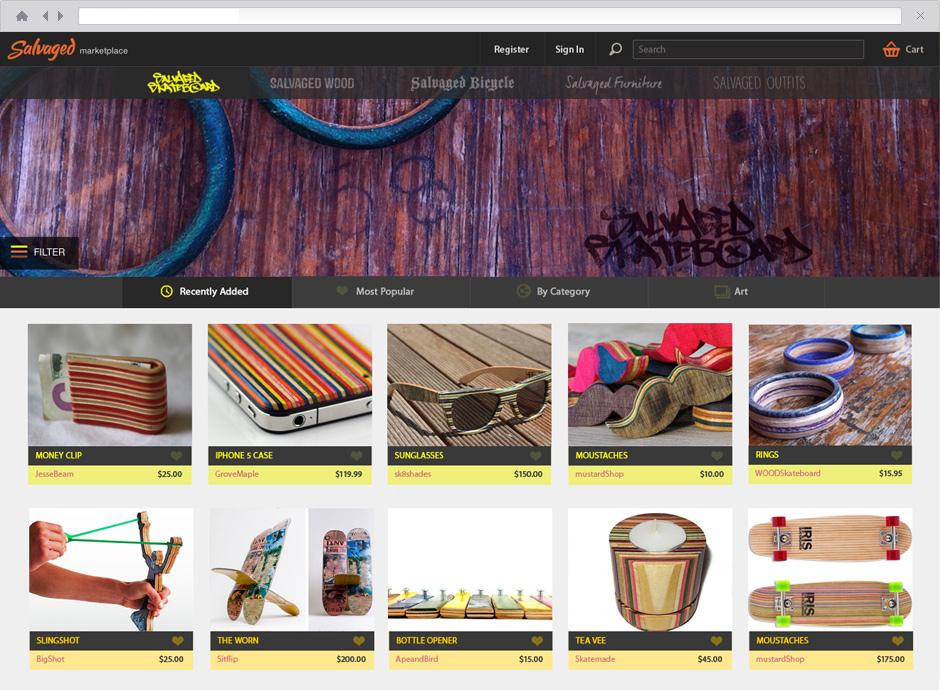 Salvaged Skateboard Shop